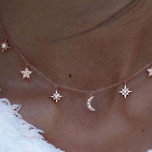 Dainty Celestial Rosegold Necklace